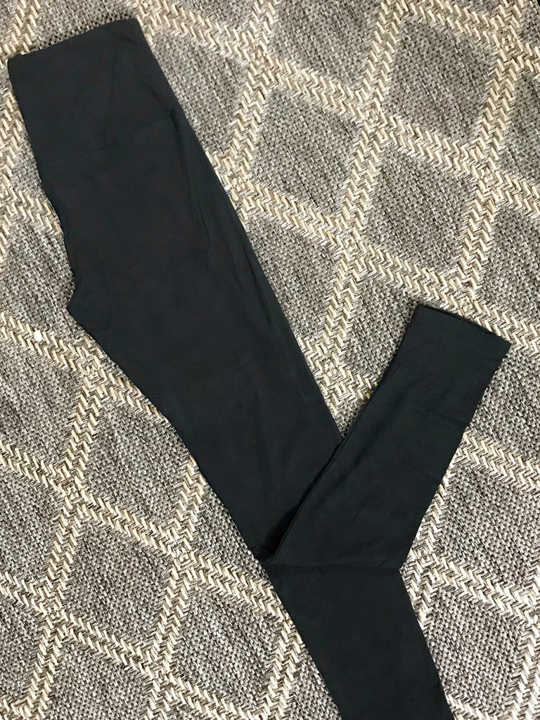 << BUTTERY SOFT >> 5 IN HIGH WAIST YOGA WAISTBAND LEGGINGS - OS and PLUS