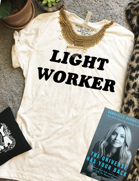 « LIGHT WORKER » CREAM, GRAY or BLACK UNISEX TEE