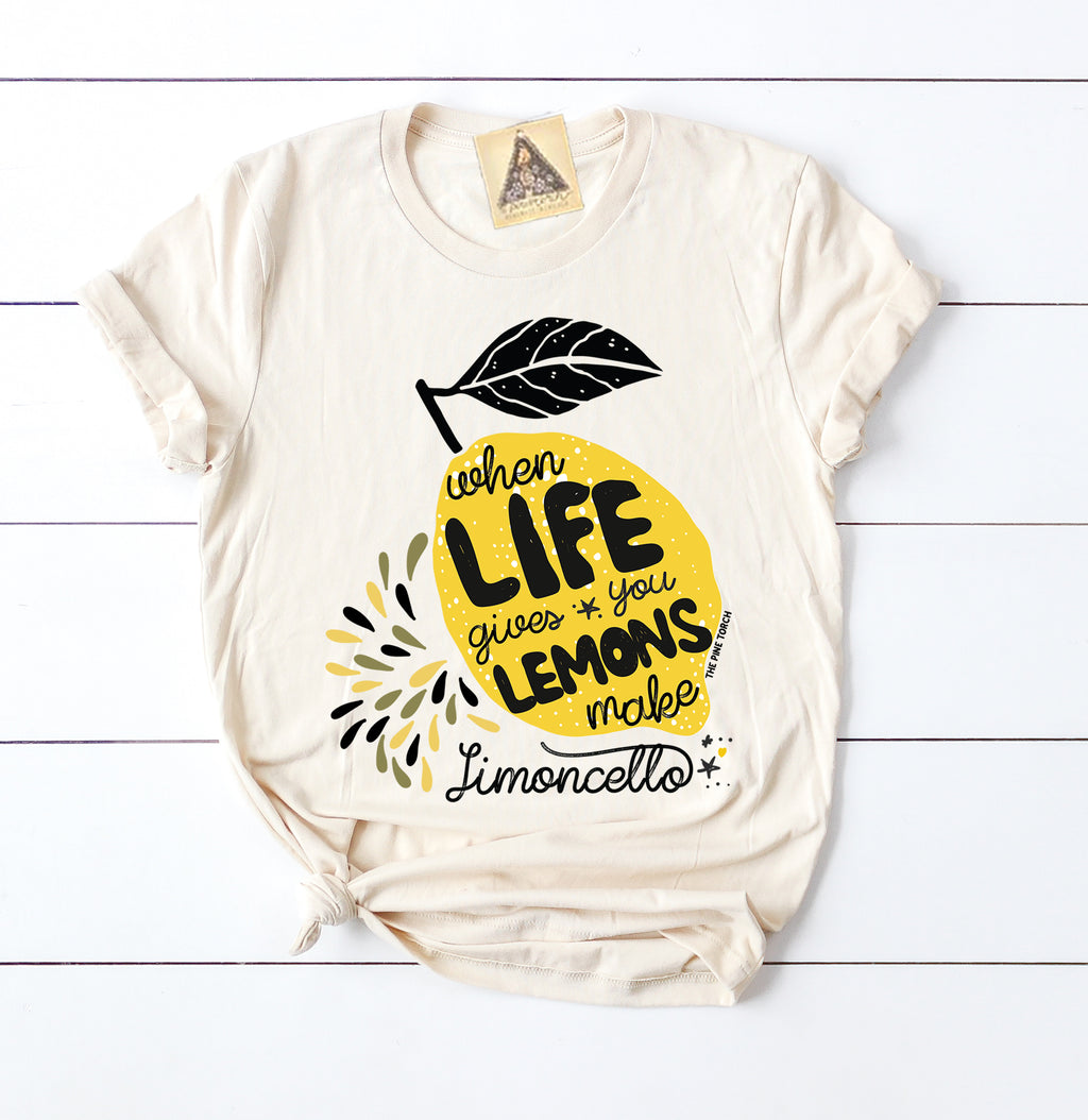 « MAKE LIMONCELLO » CREAM UNISEX TEE