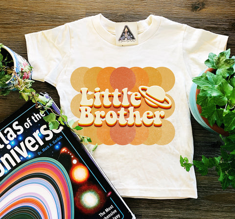 « LITTLE BROTHER RETRO OUTER SPACE » KID'S TEE