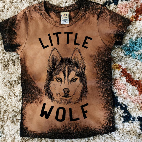 « LITTLE WOLF » ACID WASH KID'S TEE