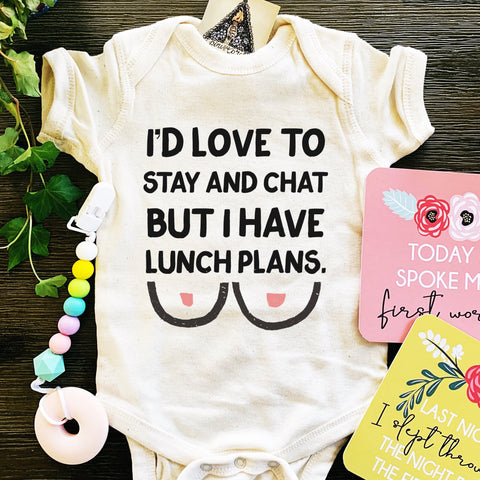 « LUNCH PLANS BREASTFEEDING » BODYSUIT