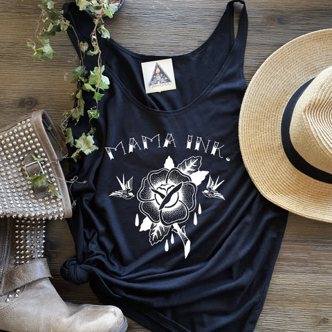 « MAMA INK. » WOMEN'S SLOUCHY TANK