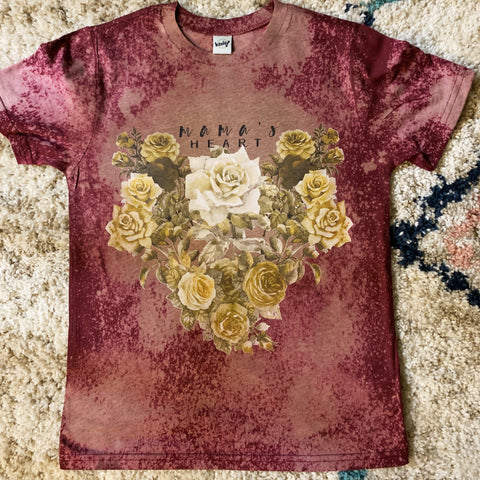 « MAMA'S HEART » ACID WASH KID'S TEE