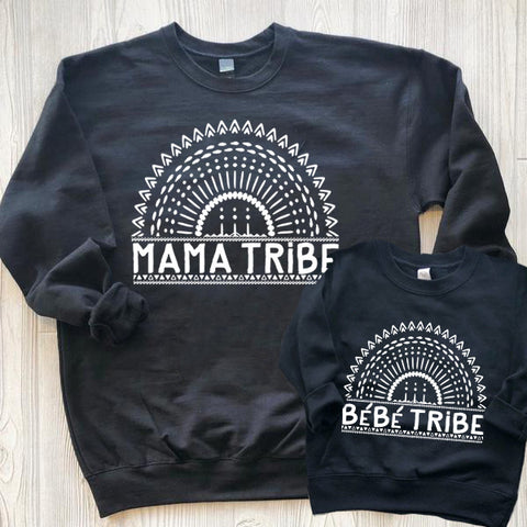 « MAMA TRIBE » MOMMY + ME UNISEX PULLOVER SET
