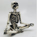 MEDITATING SKELETON INCENSE HOLDER