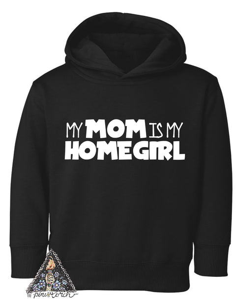 « MY MOM IS MY HOMEGIRL » KID'S HOODIE