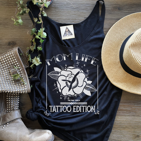 « MOM LIFE - TATTOO EDITION » WOMEN'S SLOUCHY TANK