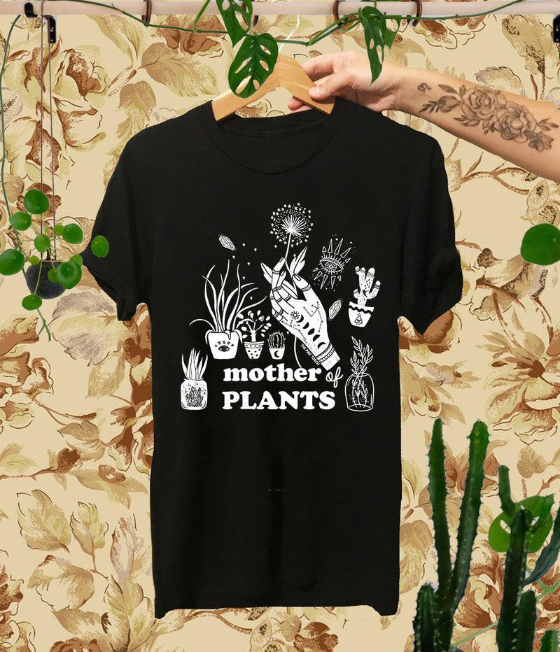 « MOTHER OF PLANTS » WOMEN'S SLOUCHY OR UNISEX TEE