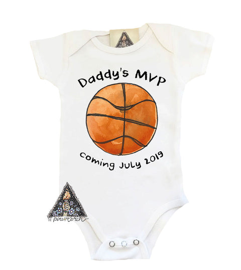 basketball mvp pregnancy announcement onesie
