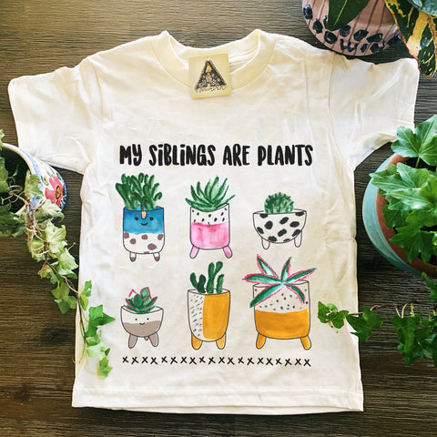 « MY SIBLINGS ARE PLANTS » KID'S TEE
