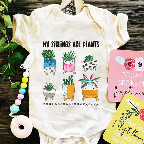 « MY SIBLINGS ARE PLANTS » BODYSUIT