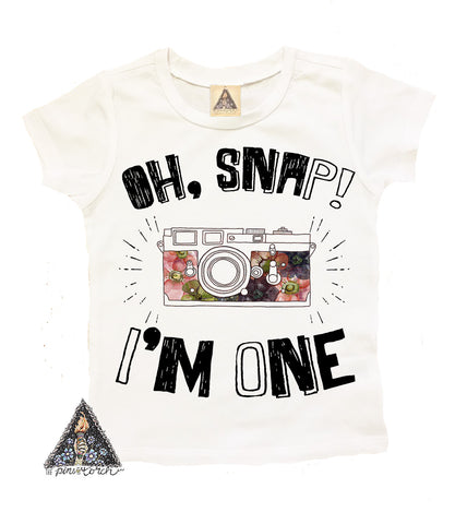 « OH SNAP, I'M ONE » KID'S TEE