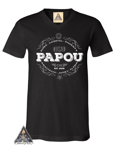 « PAPOU or GRANDPA » CUSTOM MEN'S TEE