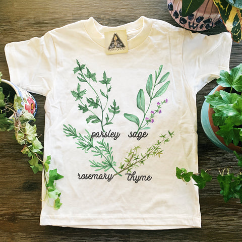 « PARSLEY, SAGE, ROSEMARY, AND THYME » KID'S TEE