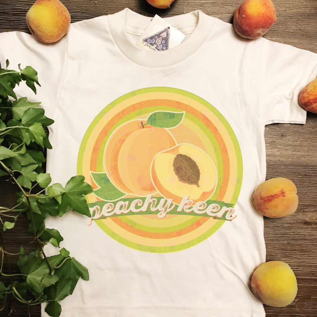 c8c2964f8db PEACHY KEEN » KID'S TEE – The Pine Torch