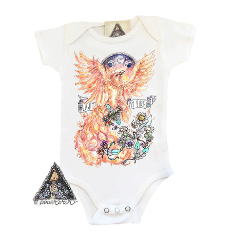 « LIGHT MY FIRE-BIRD » BODYSUIT