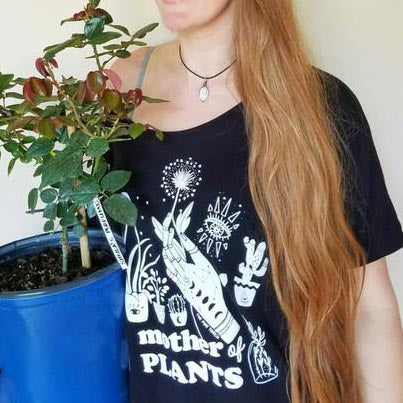 « MOTHER OF PLANTS » SLOUCHY TEE