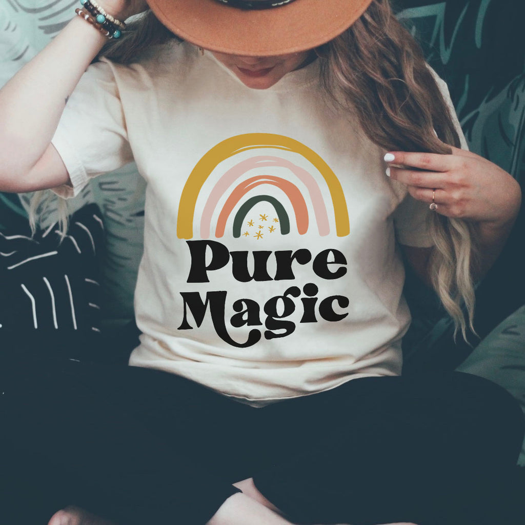 « PURE MAGIC » UNISEX CREAM TEE