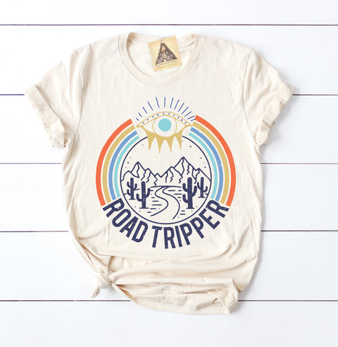 « ROAD TRIPPER » CREAM UNISEX TEE