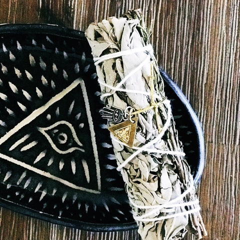 << DEMI WHITE SAGE + ROSEMARY >>  SAGE SMUDGE