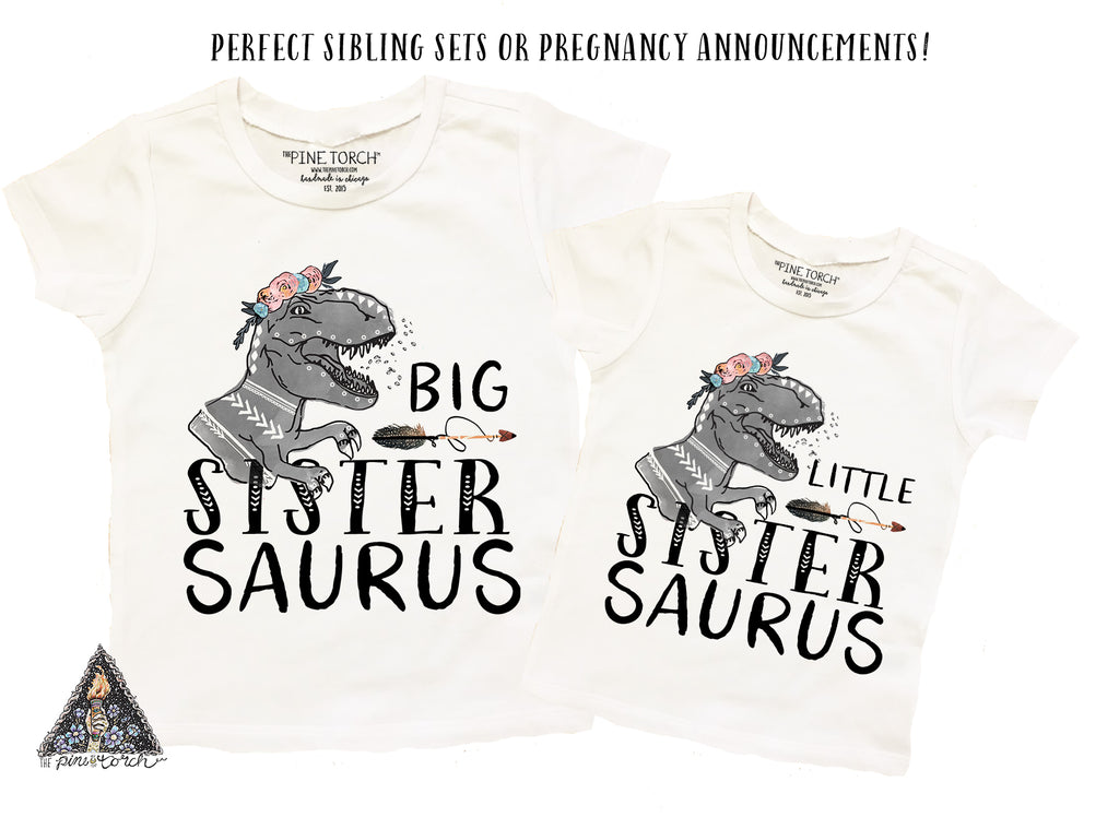 « LITTLE SISTER SAURUS » BODYSUIT