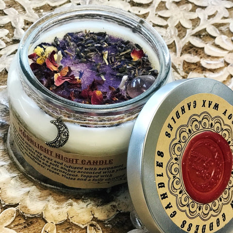 << MOONLIGHT NIGHT >> SOY CRYSTAL RITUAL CANDLE