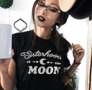 « SISTERHOOD OF THE MOON » CREAM or BLACK UNISEX TEE