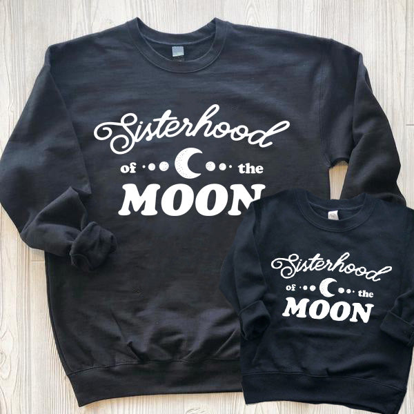 « SISTERHOOD OF THE MOON » MOMMY + ME UNISEX PULLOVER SET