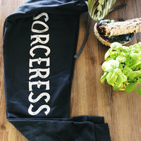 « SORCERESS JOGGERS » BLACK WITH SILVER SHIMMER