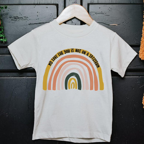 « MY LOVE FOR YOU IS NOT ON A SPECTRUM » KIDS/YOUTH TEE