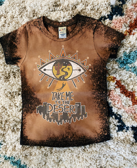 « TAKE ME TO THE DESERT » ACID WASH KID'S TEE