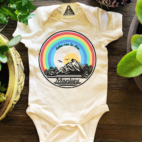 « TAKE ME TO THE MOUNTAINS » BODYSUIT