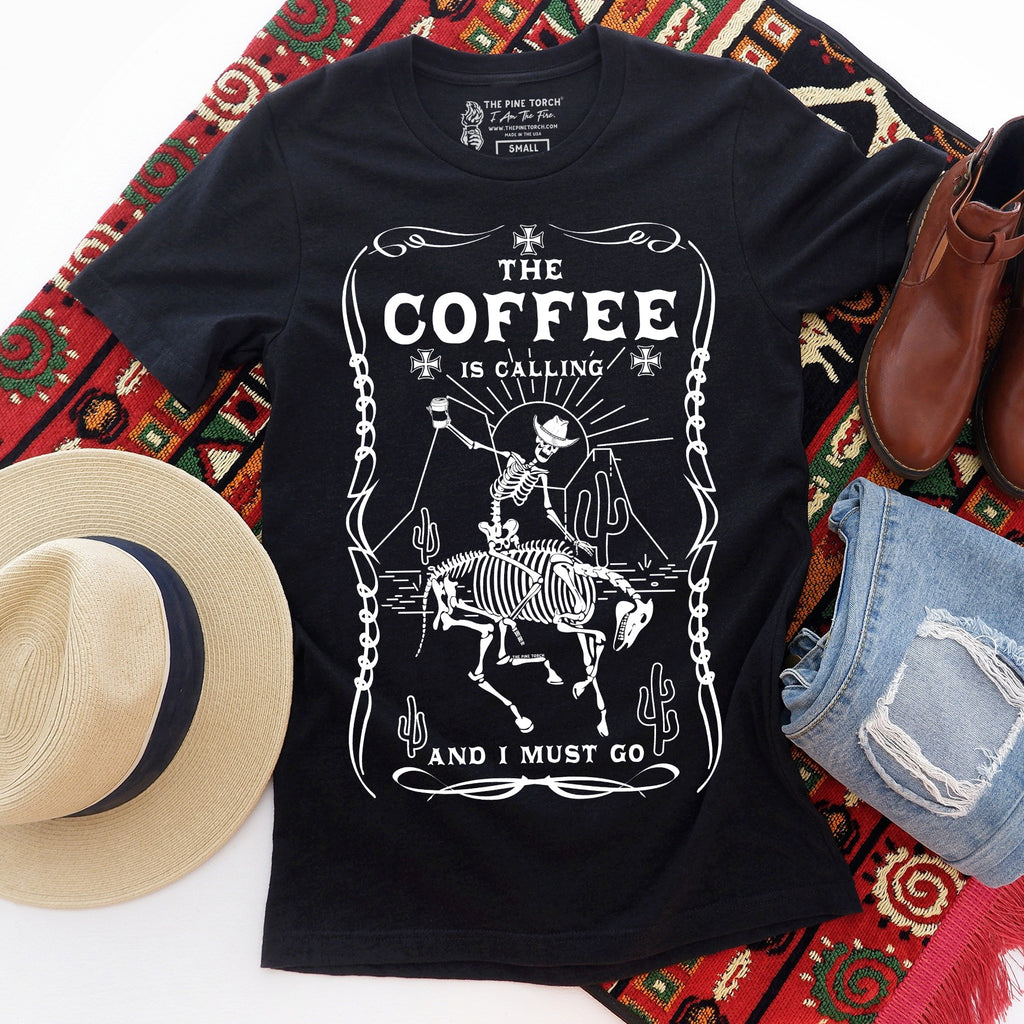 « THE COFFEE IS CALLING » UNISEX TEE