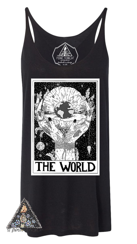 « THE WORLD // TAROT » WOMEN'S SLOUCHY TANK