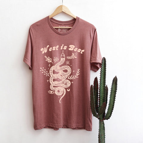 « WEST IS BEST » MAUVE UNISEX TEE