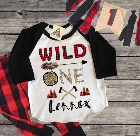 « WILD ONE BUFFALO PLAID » KID'S TEE