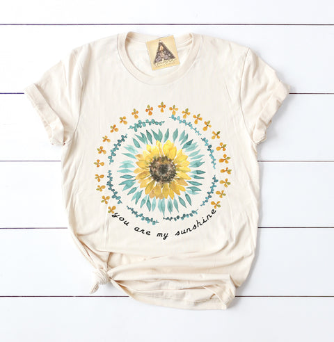 « YOU ARE MY SUNSHINE » CREAM UNISEX TEE