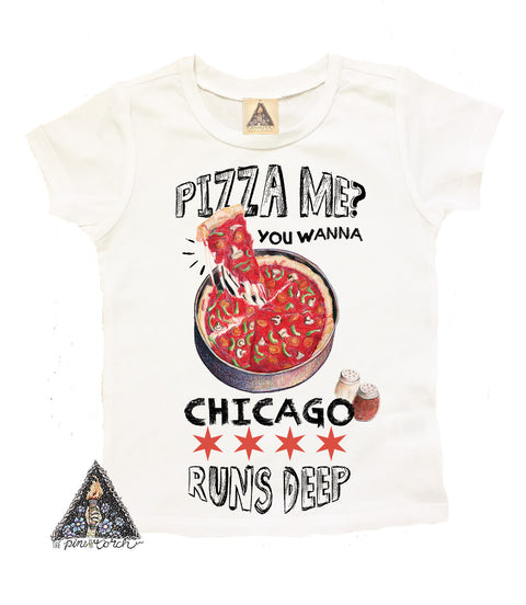 « YOU WANNA PIZZA ME? » KID'S TEE