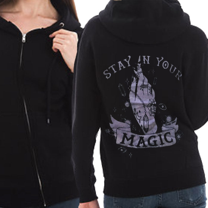 « STAY IN YOUR MAGIC AMETHYST SHIMMER » UNISEX ZIP UP HOODIE