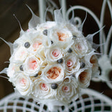 Blush garden preserved rose bouquet