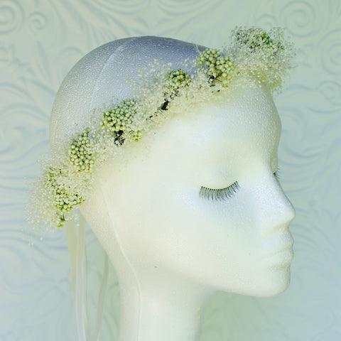Preserved Babies breath flower crown
