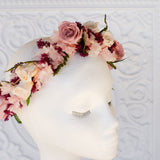 Marsala, Dusty Rose Flower Crown