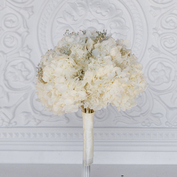 White Hydrangea forever Bridal Bouqet