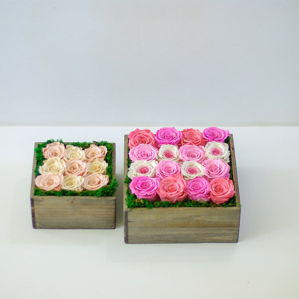 Forever roses wood box