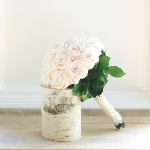 country bride forever rose box forever rose bridal bouquet - Blush Garden Rose Bouquet