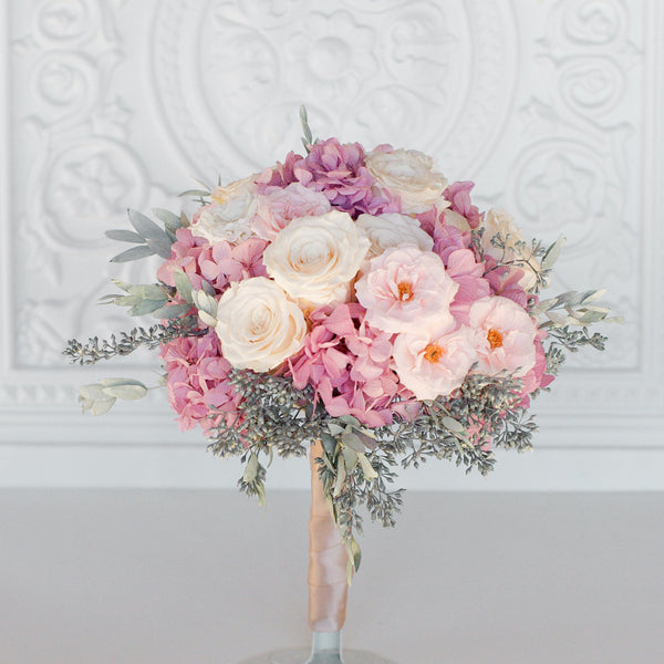 Blush and Grey Bouquet
