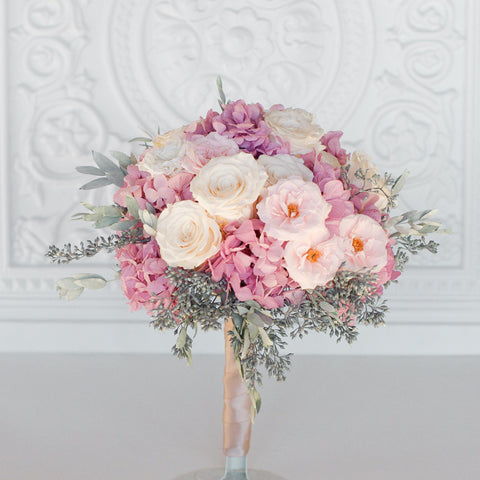 blush and green forever rose garden bouquet blush and grey bouquet - Blush Garden Rose Bouquet