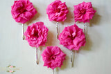 Rose hair pins