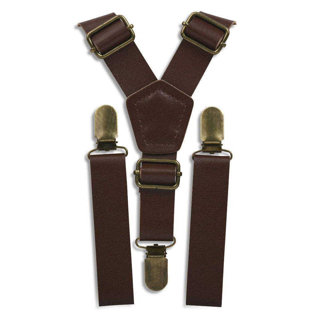 Coffee Brown Suspenders